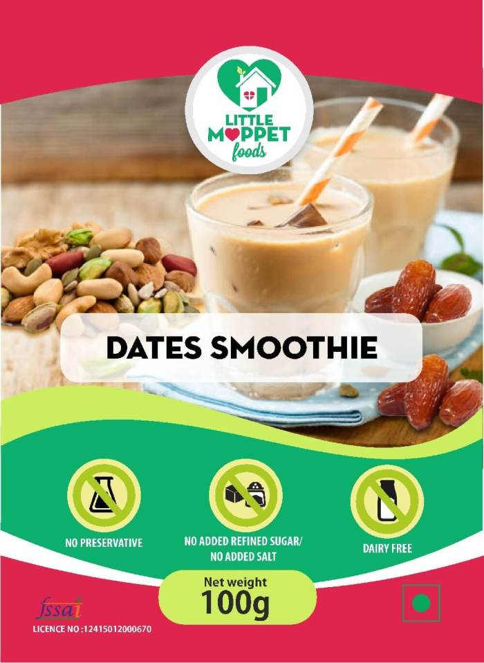 Dates Smoothie Mix - Instant Drink Mix Powder For Kids And Adults [100g]