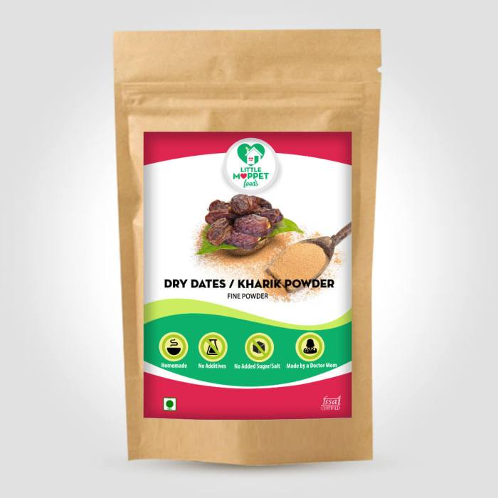 Natural dried dates powder or Kharik powder for babies
