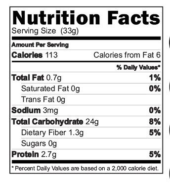 Choco Ragi Almond Drink Nutrition Facts