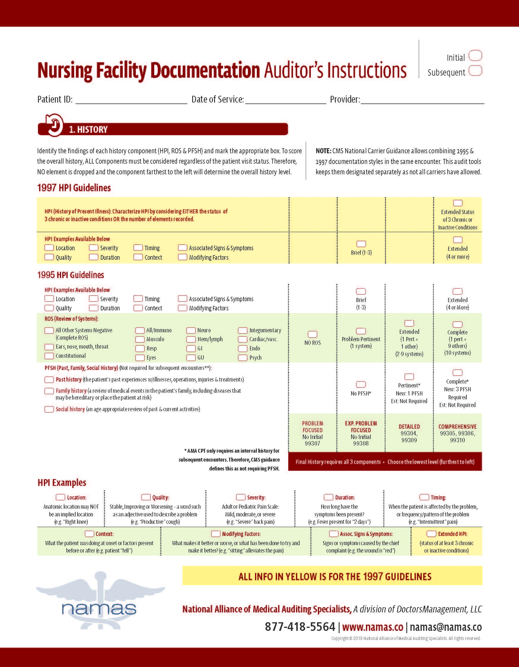 Namas Medical Auditing And Compliance Tools