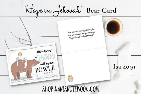 hope bear card
