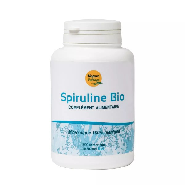 Organic spirulina in tablets