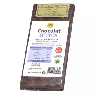 dark chocolate with chia