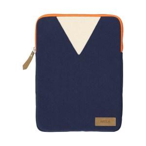 Laptopsleeve | 13 Zoll | GOTS | Fairtrade | blau | orange