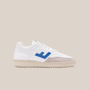 Retro 90's white blue monocolor