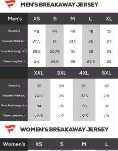 Nhl jersey sizing charts also sizes chart buying guide for reebok rh shop