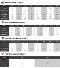 NHL Jersey Sizes - NHL Jersey Sizing Chart, Buying Guide ...