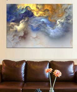 Radical Abstract Cloud Painting Frameless Wall Poster