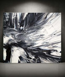 Chic Abstract Black And White Frameless Poster