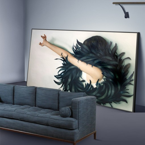 Interesting Women And Nature Frameless Wall Poster