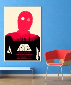 Eye-Catching Star Wars Movie Frameless Poster
