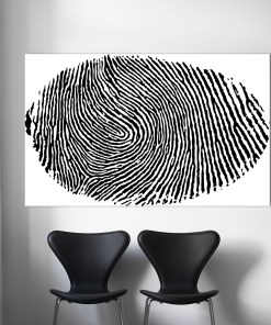 Profound Black and White Finger Print Frameless Wall Poster