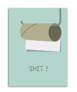Hilarious Toilet Caricature Frameless Art Poster