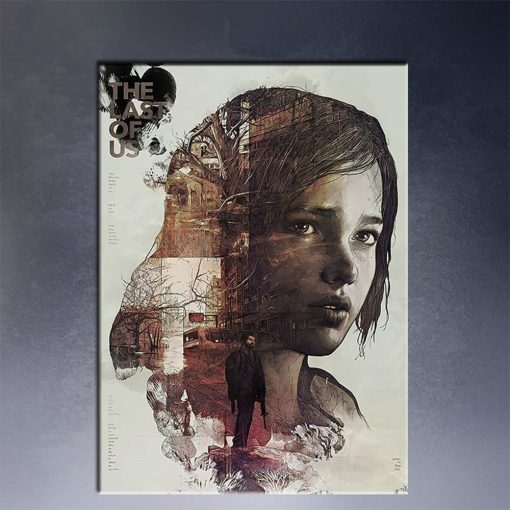 Haunting The Last of Us Video Game Vintage Frameless Art Poster