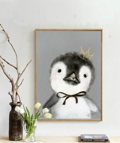 Zealous Baby King Penguin Frameless Wall Poster