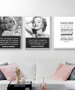 Ardent Marilyn Monroe And Life Quotes Vintage Frameless Poster