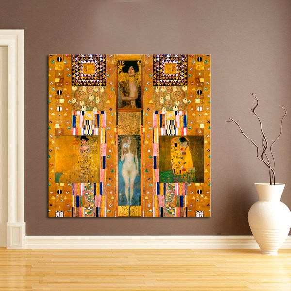 Lusty Gustav Klimt Oil Painting Frameless Wall Poster - Number 25 Online Store