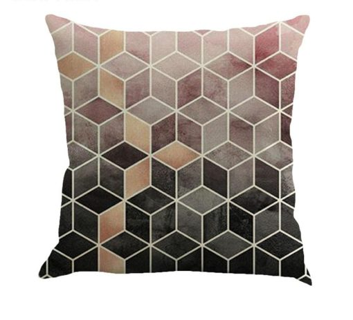 Genteel Modern Geometric Prints Linen Pillow Covers