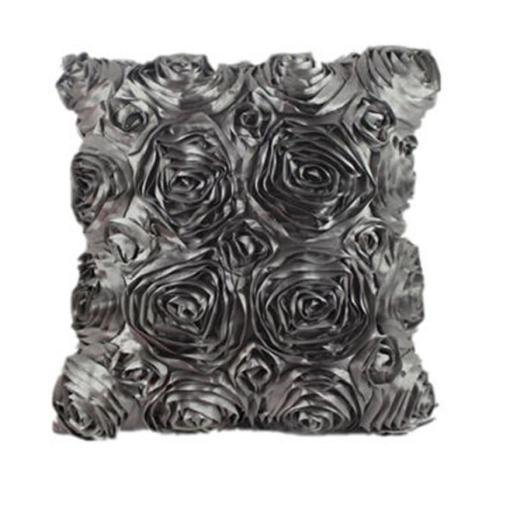 Snazzy Satin Rose 3D Floral Pillow Covers