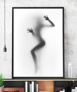 Tempting Silhouette Of A Sexy Naked Woman Frameless Poster