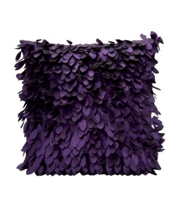 Lithesome Textured Shiny Leafy Square Polyester Pillow Covers