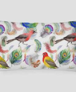 Peppy Birds and Feathers Scandinavian Style Linen Pillow Covers