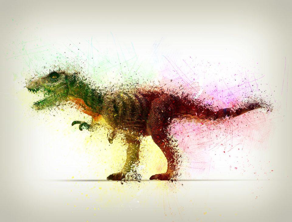 animated tyrannosaurus-rex for Dinosaur Safari exhibit