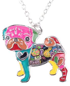 Pug Dog Choker Necklace Chain