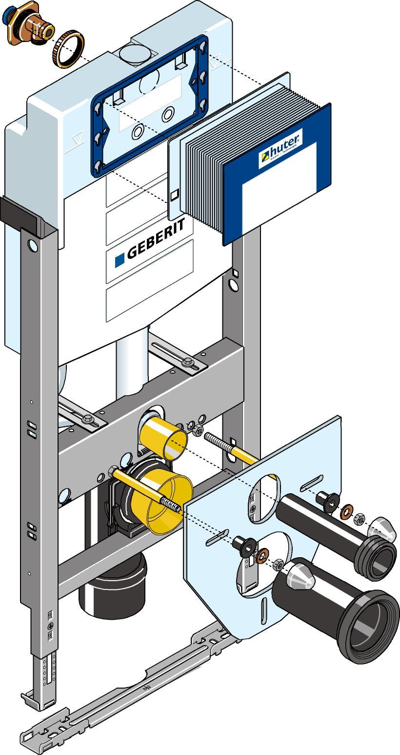 Huter 1020G Montageelement mit Unterputzsplkasten fr
