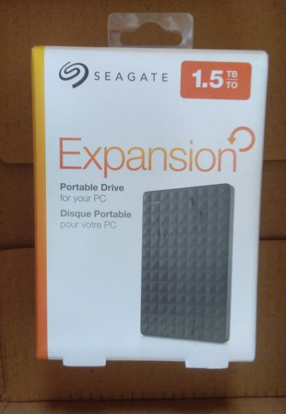 Seagate Expansion Portable 1.5TB Product Box Image