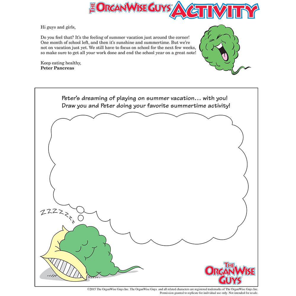 Keeping Kids Focused Activity Sheet