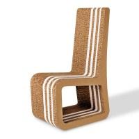 Honeycomb cardboard chair - Stripe - Origami Furniture