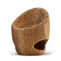 Recycled cardboard chair - Canyon - Origami Furniture