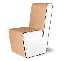 Recycled cardboard chair - Snake - Origami Furniture