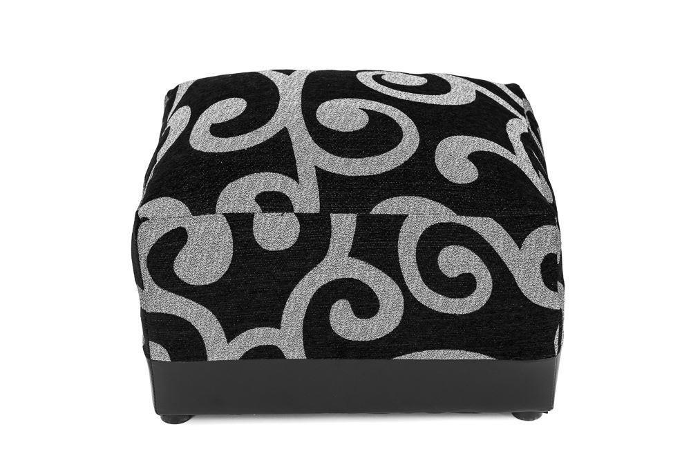 footstool black silver living room sofa side
