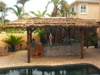10x19 Foot Oval Tahitian PalmTiki Hut/Palapa - 4 Posts