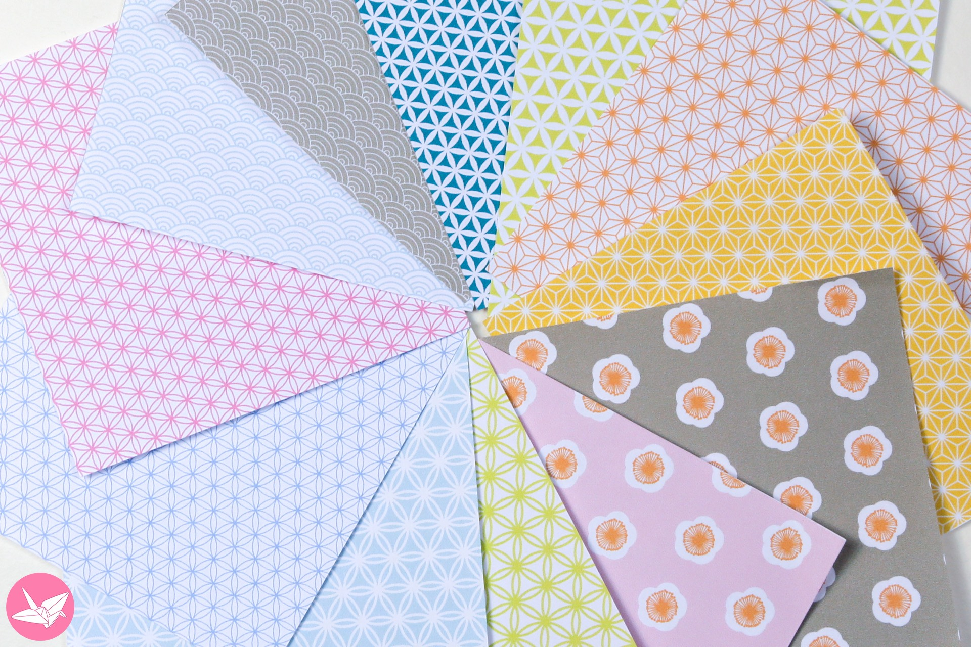 Japanese Origami Paper Printable Pack