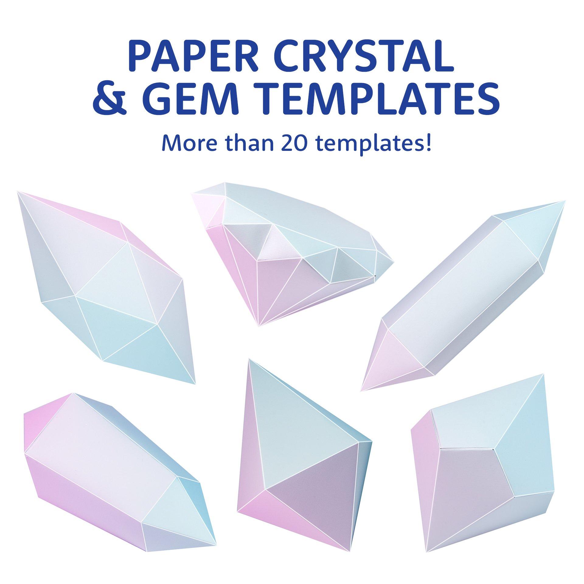 image regarding Printable Paper Templates identify Printable Paper Diamond, Gem Crystal Templates