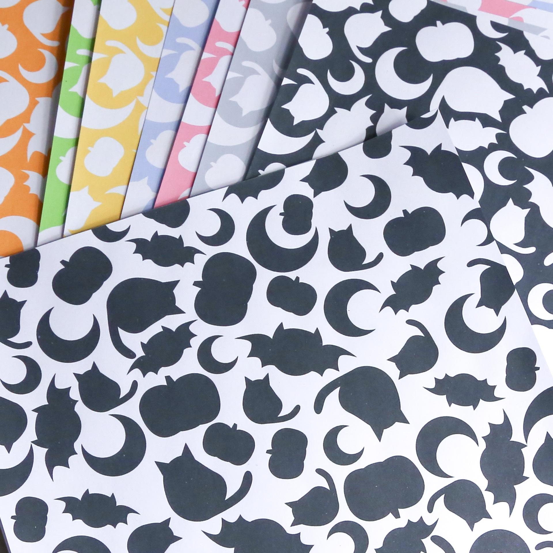 Cute Halloween Printable Origami Paper - Paper Kawaii Shop - photo#6
