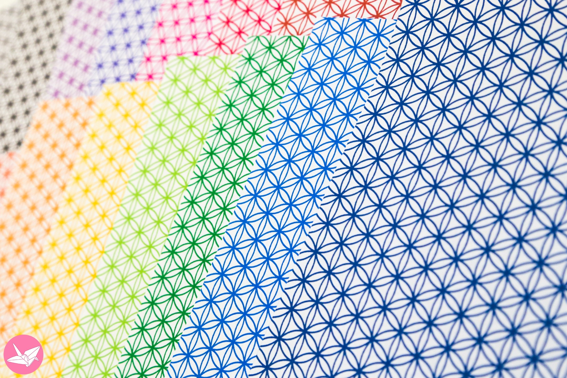 Flower Of Life Pattern Papers Bright Lines Paper Kawaii Shop