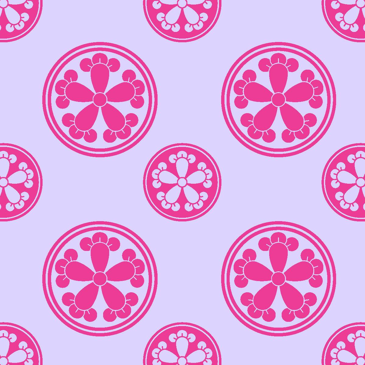 japanese flower circles printable origami paper