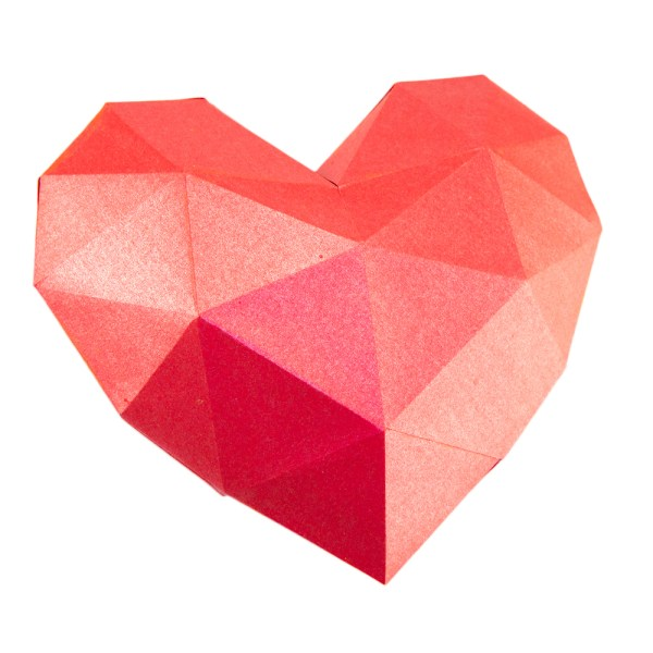 3D Paper Heart Printable Template