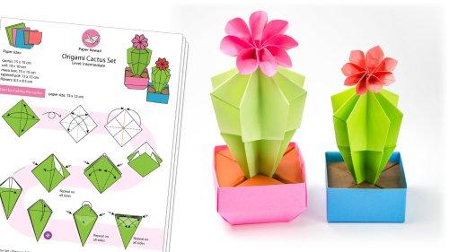Origami Cactus Set Diagram PDF