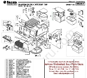 Saeco Royal Coffee Bar SUP016 2001 Parts diagram