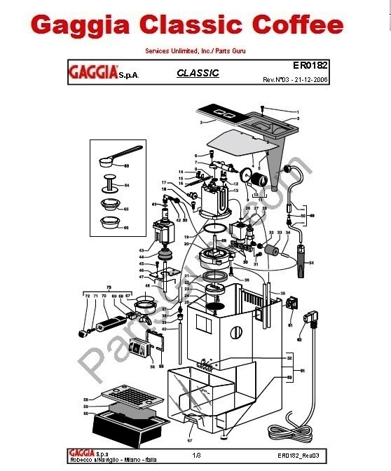Gaggia parts manual