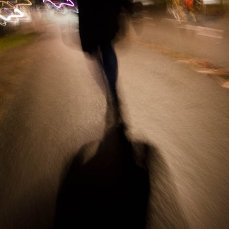 At Night: Street Walker - Art Poster by Peter Lindberg Photography