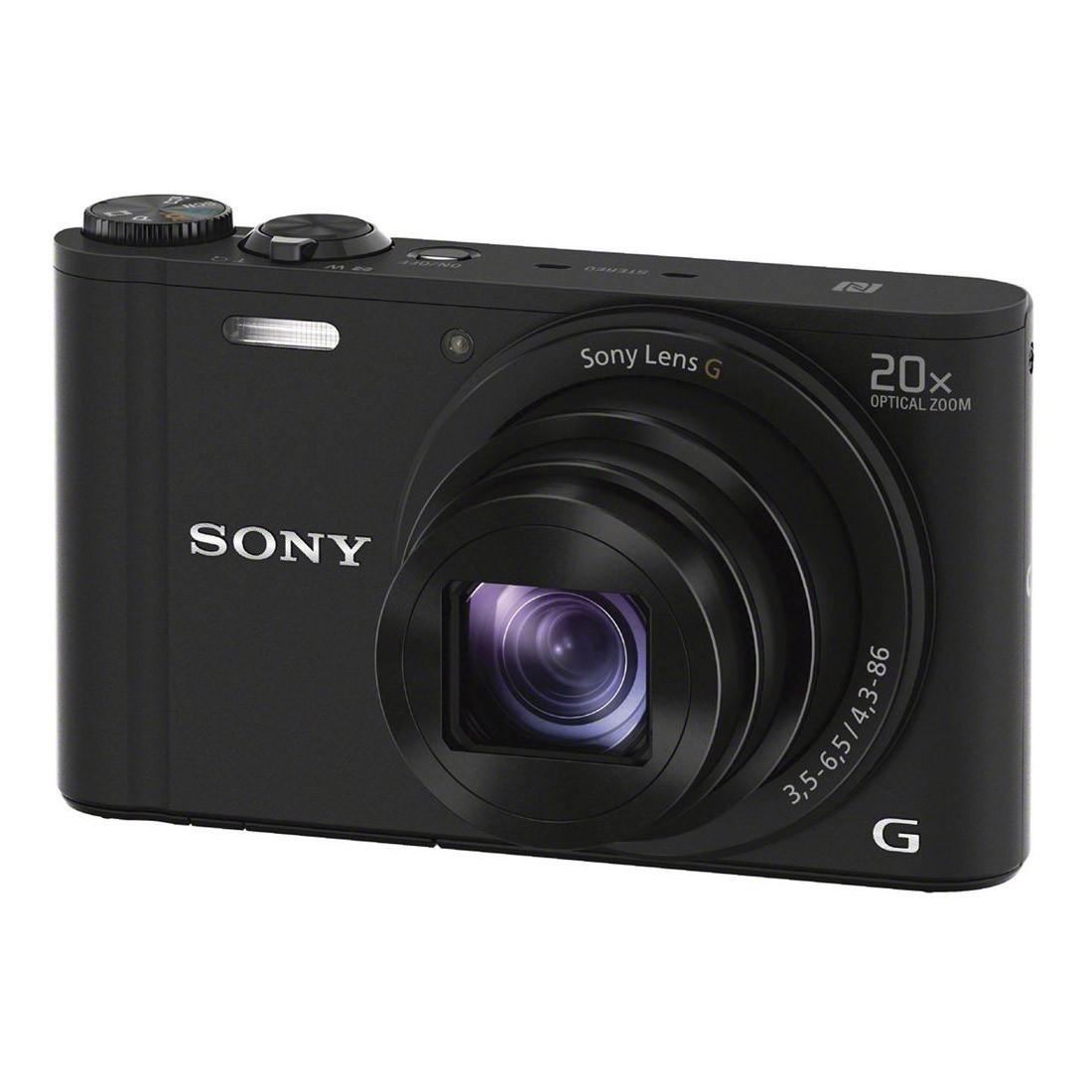 Sony-Cyber-Shot-WX350-Black - Slant