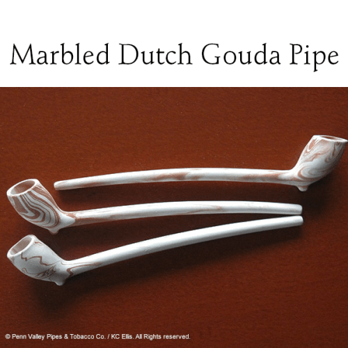 Marbled Dutch Gouda clay pipe