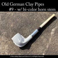 Old German Clay Pipe - Claw and Egg MF#9 at Pipeshoppe.com
