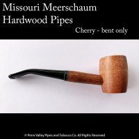 Missouri Meerschaum Cherry Hardwood Pipe at Pipeshoppe.com - bent hardwood pipe with a 6mm filter